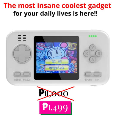 Retro Colored Game Console with Power Bank and Classic Games