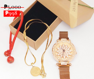 Miraculous Pendant blessed by a relic of Saint Jude, Patron Saint of the IMPOSSIBLE with Magnetic Therapy Watch and Lucky  Red String