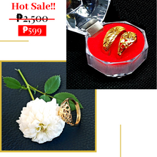 Load image into Gallery viewer, Classic Ethiopian GOLD COLOR  Couple Promise Rings (1 pair Adjustable)