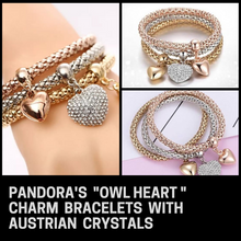 Load image into Gallery viewer, PANDORA's Owl HeaRt Charm Bracelet With Austrian Crystals