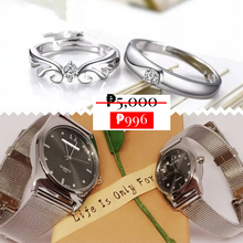 Load image into Gallery viewer, Angel Wings Couple Ring- Young Demeanor Couple Watch