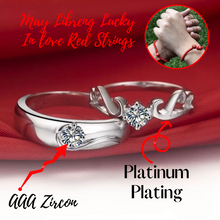Load image into Gallery viewer, Angel Wings ring (COUPLE) with a FREE 2 pieces Lucky In Love Red Strings