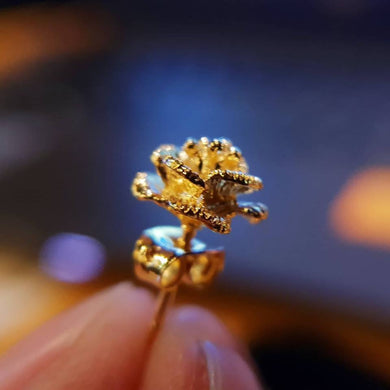 ROSE EARRING BANGKOK GOLD 18k  Coated of a very high standard