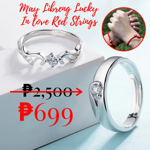 Angel Wings ring (COUPLE) with a FREE 2 pieces Lucky In Love Red Strings