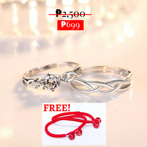 Silver Wave Bohemian Promise Rings