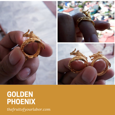 Golden Phoenix Ring (women)