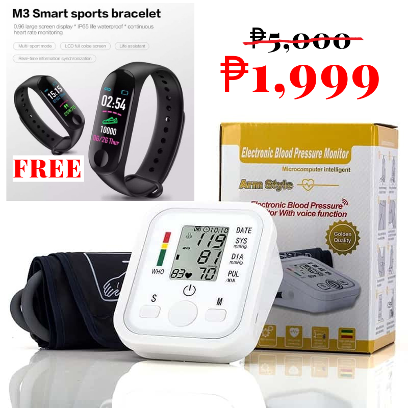 Electronic Blood Pressure Monitor (FREE!!! SMART WATCH!!!)