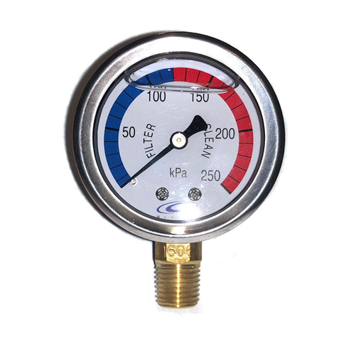 Pressure Gauge S/Steel Oil Filled Btm Mount