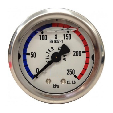 Pressure Gauge S/Steel Oil Filled Back Mount