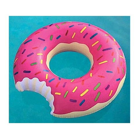 Donut Pool Float with Missing Bite