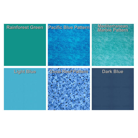 Blue Haven 12 Ft Wide Kidney Shaped Above Ground Pool Liner
