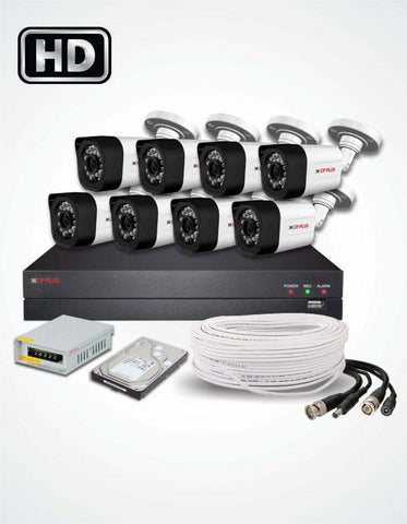 8 FHD CCTV Cameras Solution (CP Plus) - Security360.pk