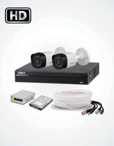 2 FHD CCTV Cameras Solution (Dahua)