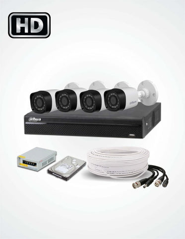 4 Cameras Solution (Dahua) - Security360.pk
