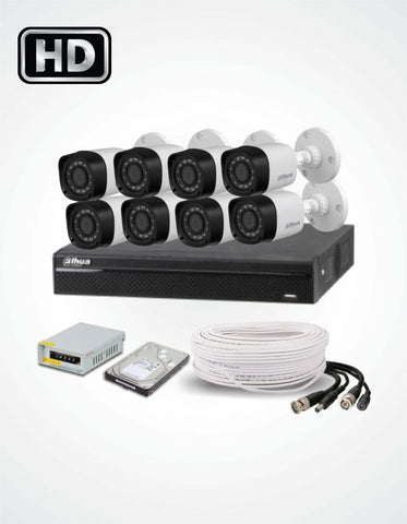 8 Cameras Solution (Dahua) - Security360.pk