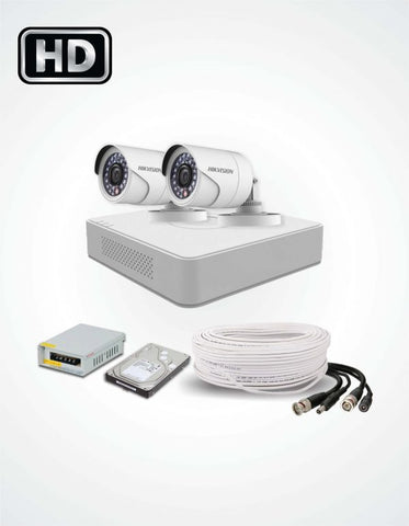 2 HD CCTV Cameras Solution (Hikvision) - Security360.pk
