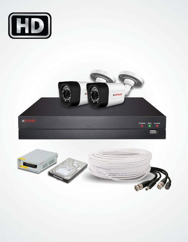 2 HD CCTV Cameras Solution (CP Plus) - Security360.pk
