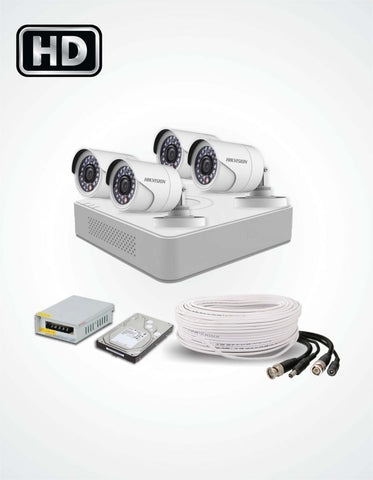 4 HD CCTV Cameras Solution (Hikvision) - Security360.pk