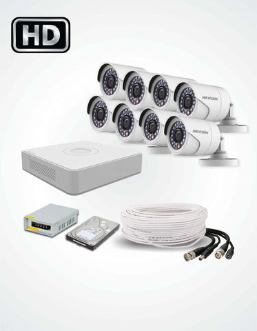8 HD CCTV Cameras Solution (Hikvision) - Security360.pk
