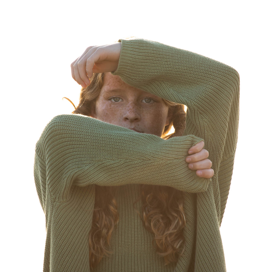 Oversized Cotton Knits - Sage