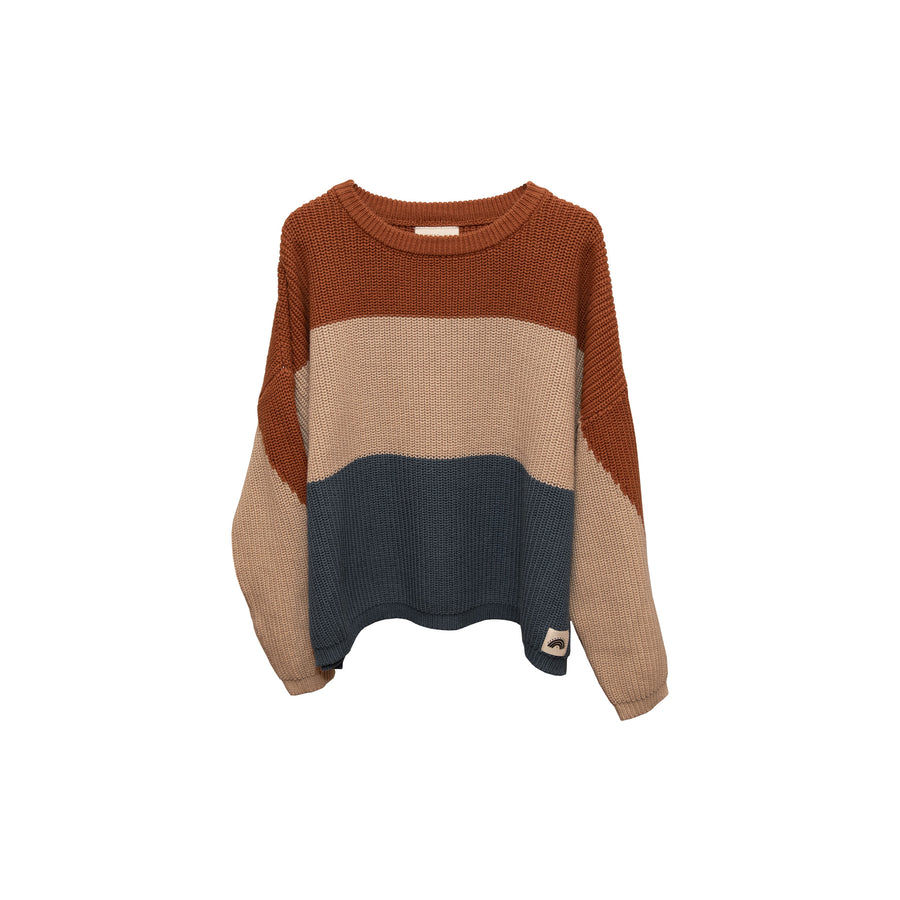 Oversized Cotton Knits - Tricolor