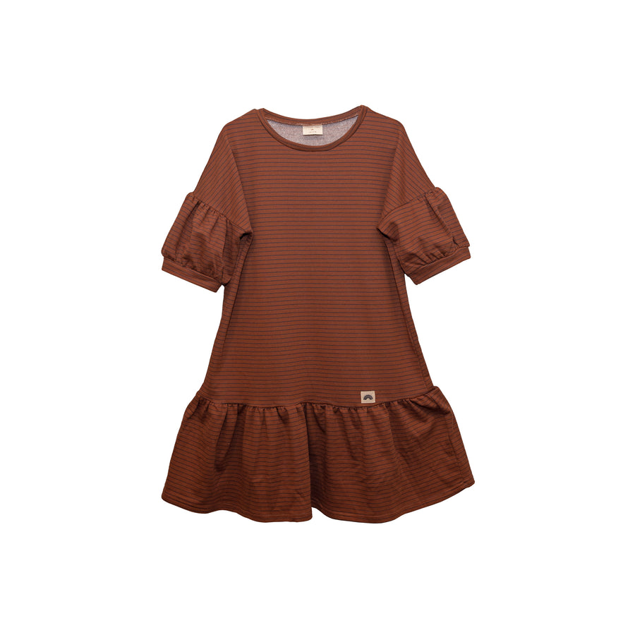 Lola Dress - Chocolate Stripes (Adult)