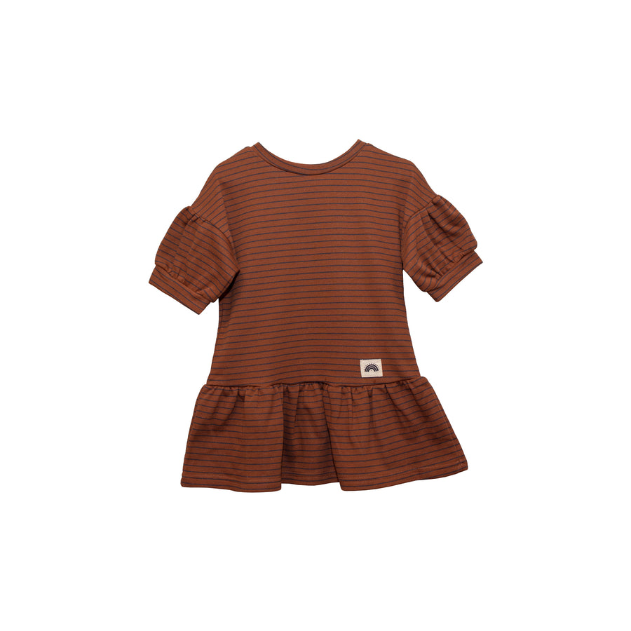 Lola Dress - Chocolate Stripes (Kids)