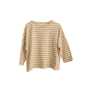 Long Sleeve Tee (Stripes) Caramel