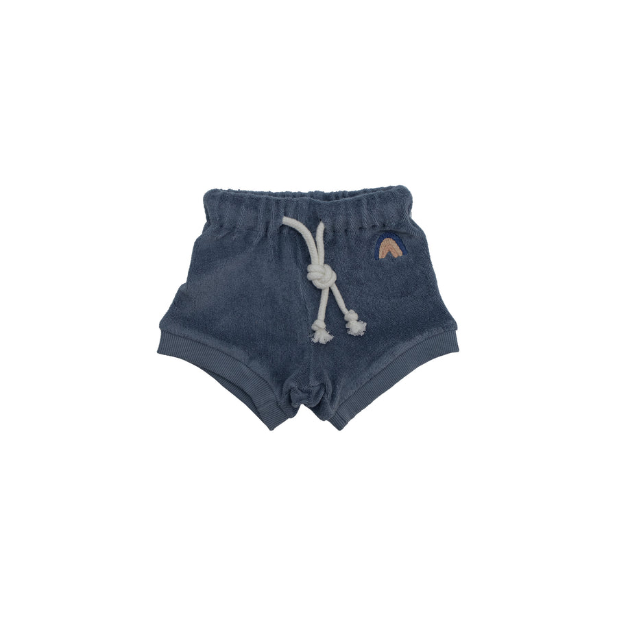 Reverse Terry Short - Azul