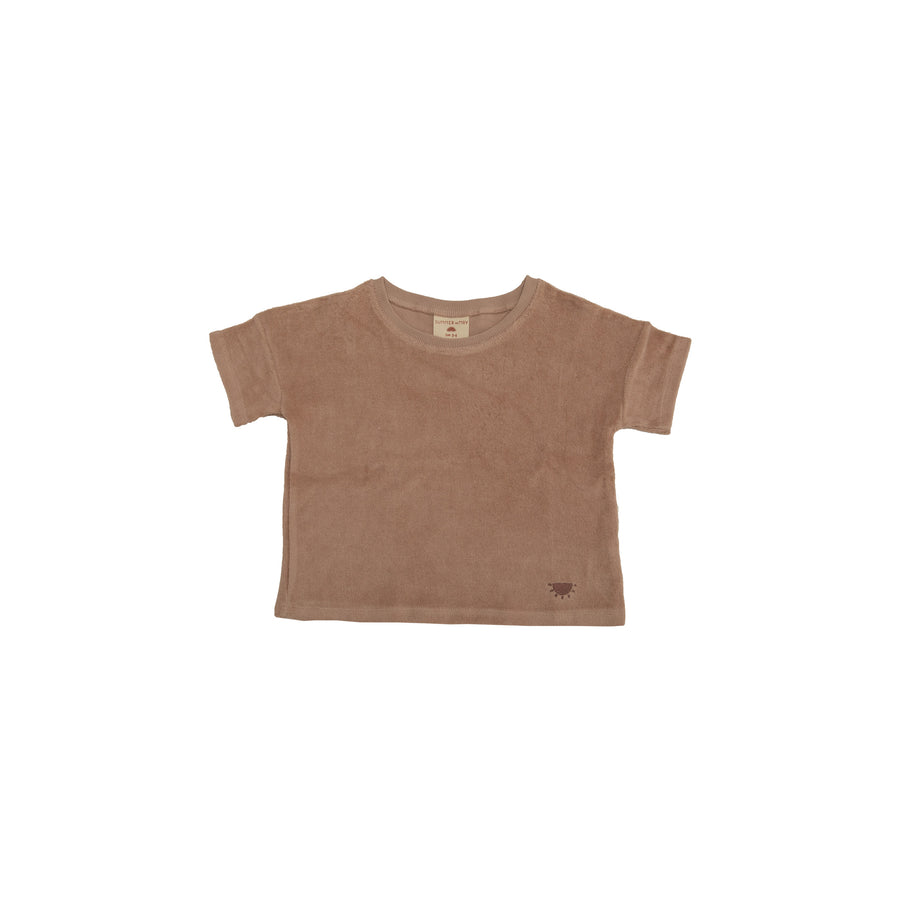 Reverse Terry Top - Dusty Pink