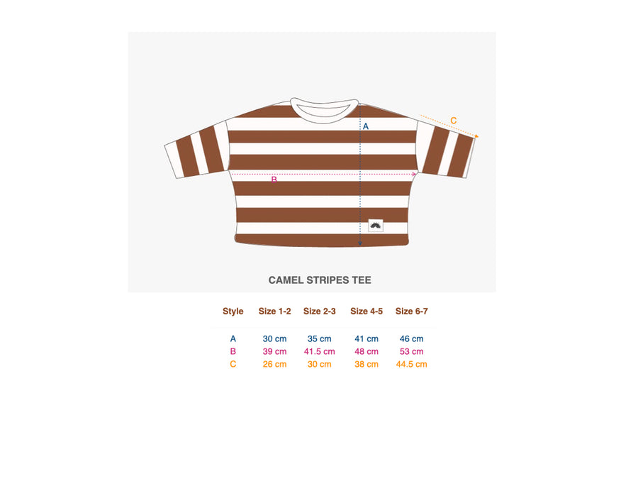 Long Sleeve Tee (Stripes) Russet