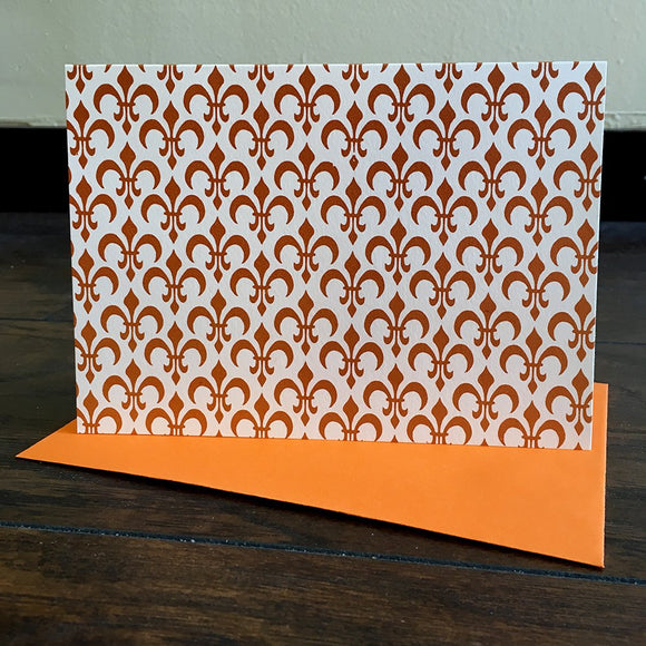 Orange Fleur de Lis card set