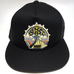 The Wedge hat (black)