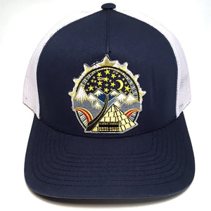 The Wedge hat (navy/white)
