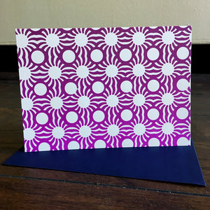 Purple Circle Sun card set