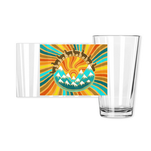 Llama Mountain pint glass