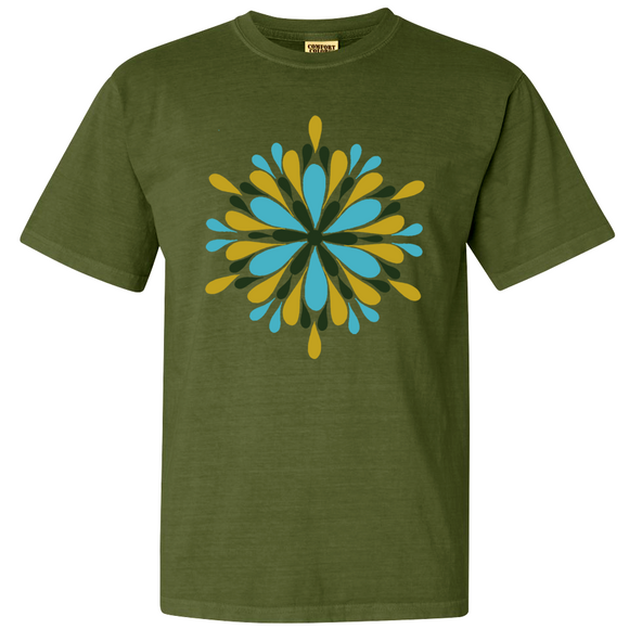 Hemp green mandala garment tee