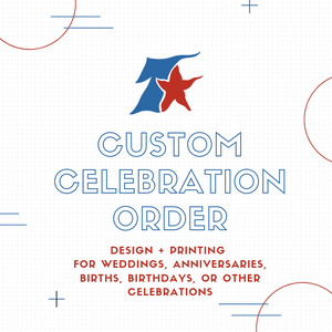 Custom Celebration Order (wedding, birth announcement, birthday celebration, anniversary) - DEPOSIT