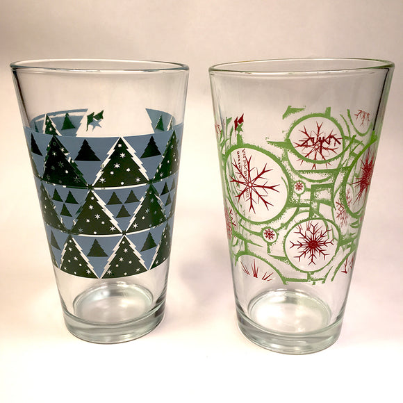 Winter Pint Glass set