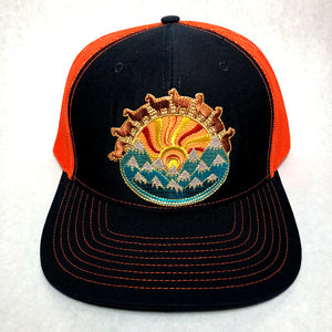 Llama hat (navy/orange)