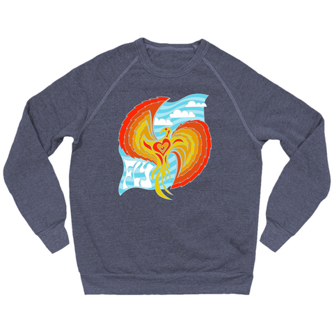 Famous Mockingbird eco-fleece crewneck sweatshirt