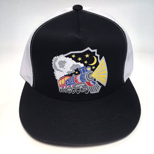 C. Jones hat (black/white)