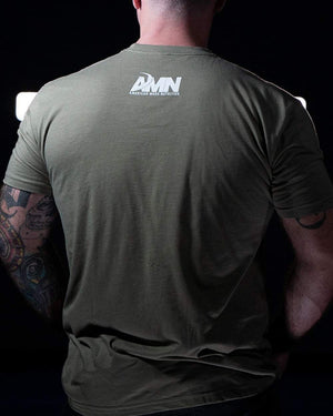 American Made Nutrition Apparel Evolution Tee // Light Olive