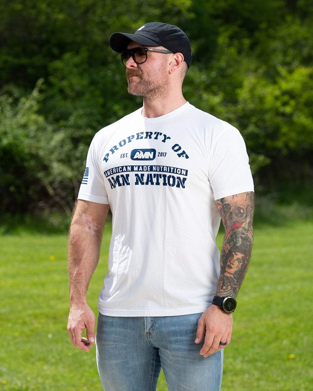 American Made Nutrition Property of AMN Tee