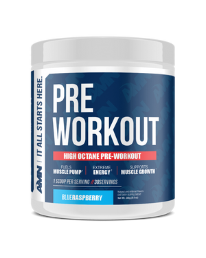 American Made Nutrition Pre Workout Blue Raspberry High Octane
