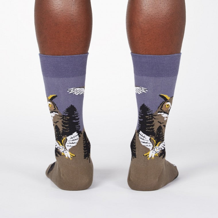 Owl Mountain Crew Socks