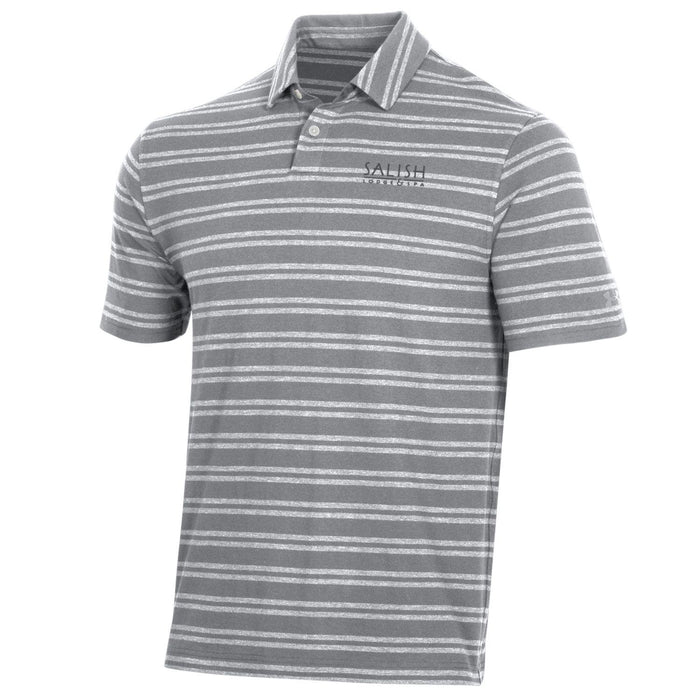 Salish Logo - Mens Charged Cotton Stripe Polo