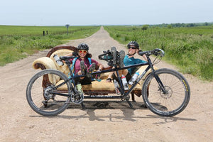 Taking a break during Dirty Kanza 2019
