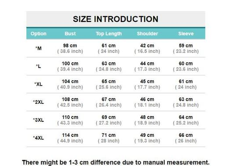 Motorcycle Jacket Size Chart For Men and Women