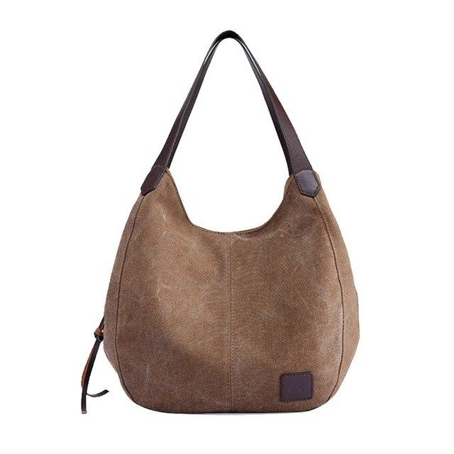 Lexury bags for Women's Canvas Handbags Vintage USA - BrapWrap